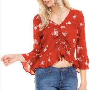 Tops - Floral Scrunch Top
